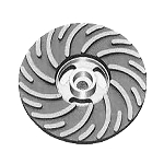 Spiralcool 5 Inch Air-Cooled Spiral Face Medium Flex Backing Pad with Nut  R500-R