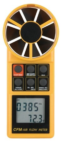 All In One Thermo-Anemometer with Integral Rotary Vane Sensor.  8906