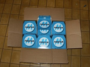 "Box of 24 : 2"" x 250' Roles of Parafilm M Laboratory Wrap, Parafilm Tape, Part Number PM992"