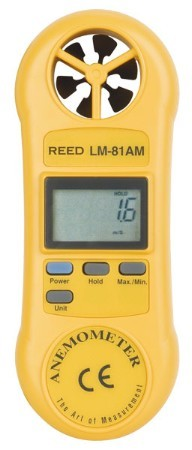 Anemometer:  Compact, Light, Simple to Operate.  LM-81AM